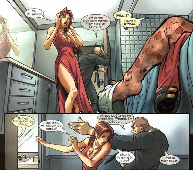Gail Simone wrote a comic where Deadpool masturbates in front of loved ...