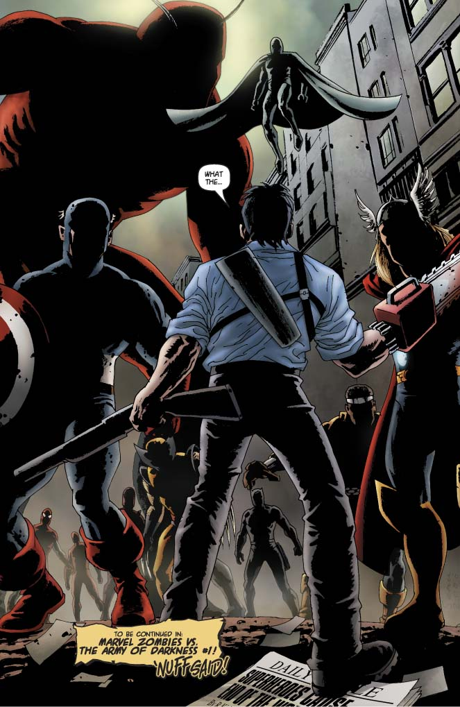 4thletter Blog Archive Marvel Zombies Ash S Chainsaw And Other