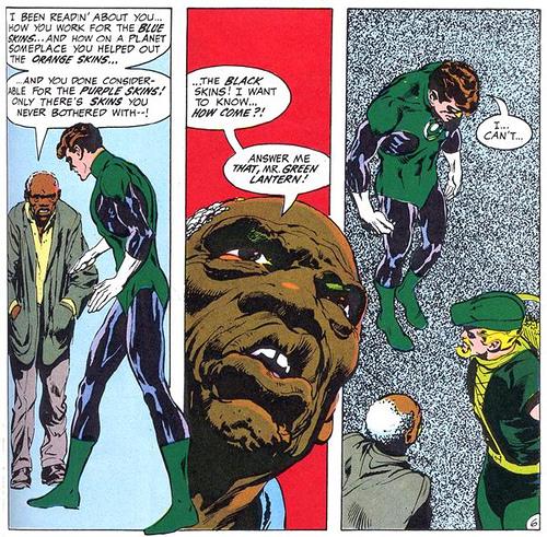 green lantern don't got no black friends
