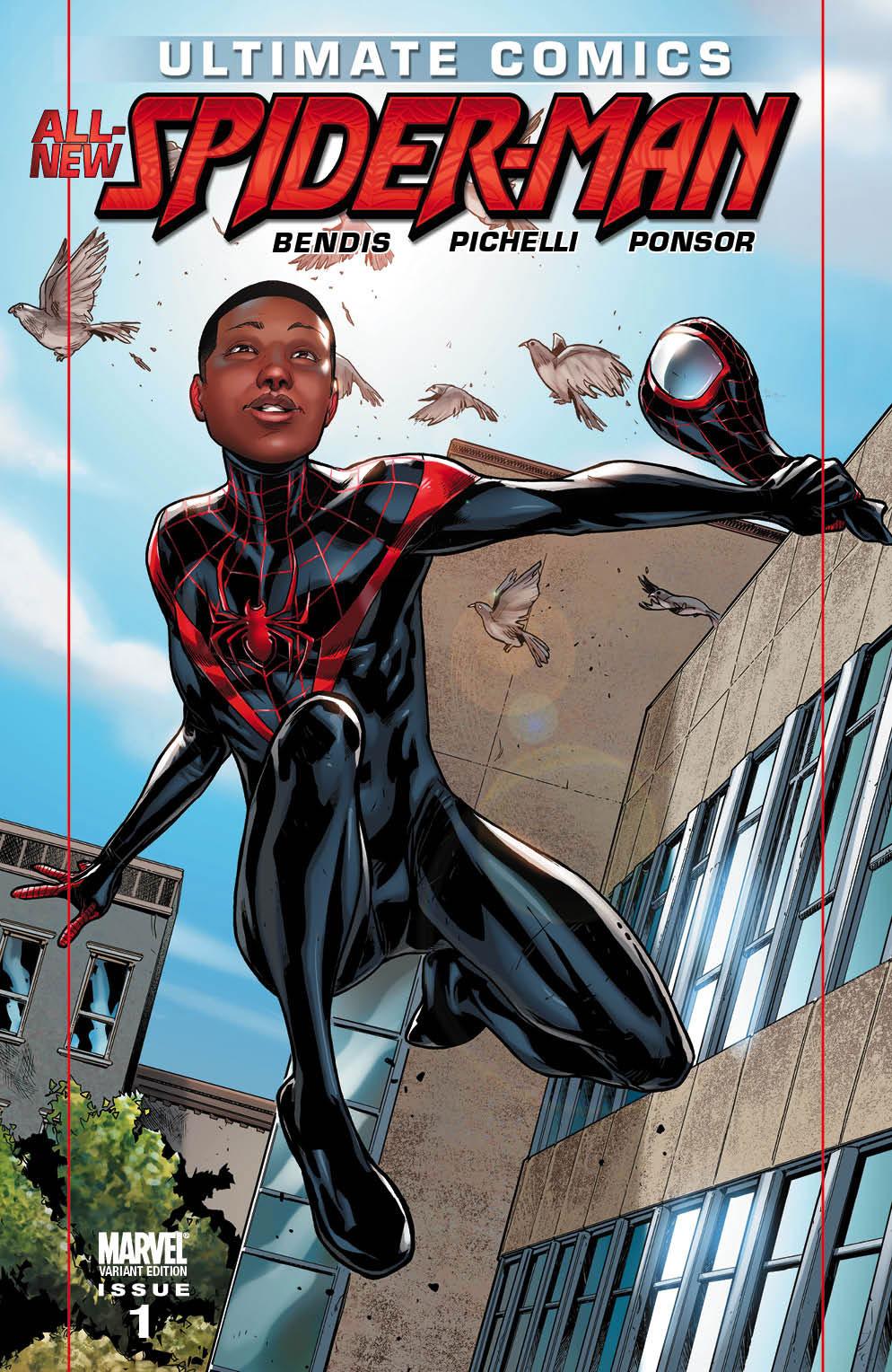 Black Spiderman Comic  black Spider-Man  is